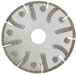 Eletroplated diamond saw blade