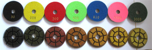 3 inch wet diamond polishing pads