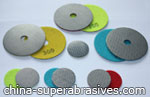 Electroplated diamond grinding pads