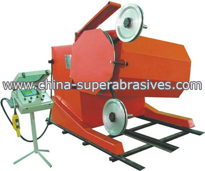Diamond wire sawing machine
