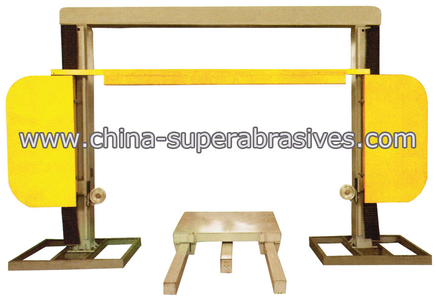 diamond wire sawing machine for profiling and squaring